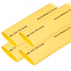 Ancor Heat Shrink Tubing 3-4- x 6- - Yellow - 4 Pieces