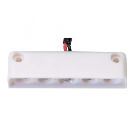 Innovative Lighting 5 LED Surface Mount Step Light - Red w-White Case
