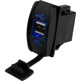 Sea-Dog Dual USB Rocker Switch Style Power Socket