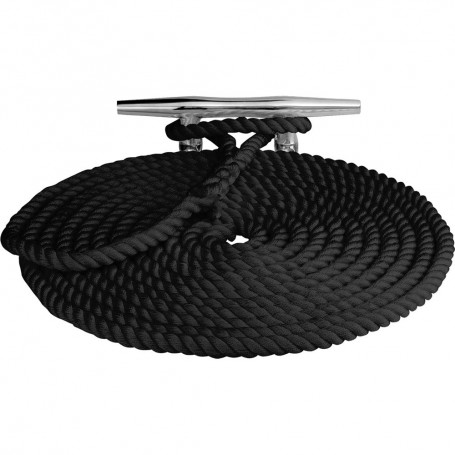 Sea-Dog Twisted Nylon Dock Line - 3-8- x 25 - Black