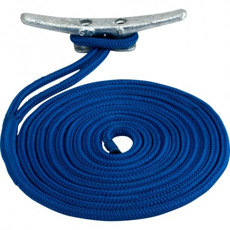 Sea-Dog Double Braided Nylon Dock Line - 3-8- x 15 - Blue