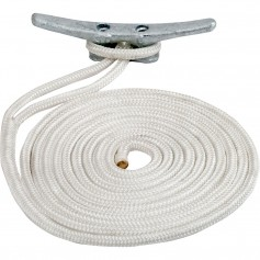 Sea-Dog Double Braided Nylon Dock Line - 3-8- x 15 - White