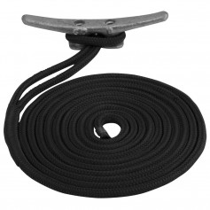 Sea-Dog Double Braided Nylon Dock Line - 1-2- x 15 - Black