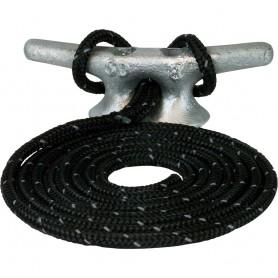 Sea-Dog Double Braided Nylon Dock Line - 1-2- x 15 - Black w-Tracer