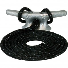 Sea-Dog Double Braided Nylon Dock Line - 1-2- x 15 - Black w-Tracer