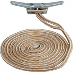Sea-Dog Double Braided Nylon Dock Line - 1-2- x 15 - Gold-White