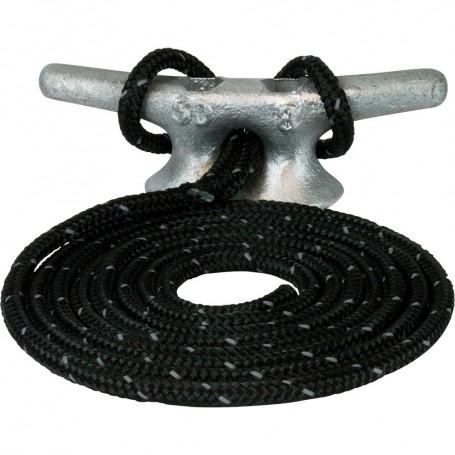 Sea-Dog Double Braided Nylon Dock Line - 1-2- x 20 - Black w-Tracer