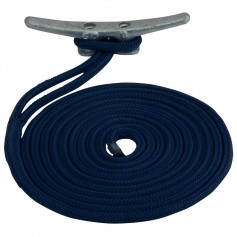Sea-Dog Double Braided Nylon Dock Line - 1-2- x 25 - Navy