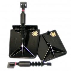 Nauticus SX9510-60 Smart Tab SX Composite Trim Tabs 9-5 x 10 - f-15-18 Boat w-60 - 135HP - Black