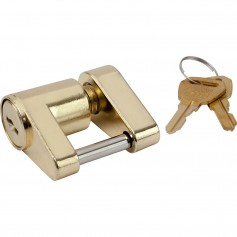 Sea-Dog Brass Plated Coupler Lock - 2 Piece