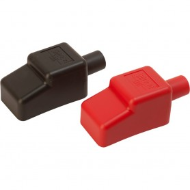 Sea-Dog Battery Terminal Covers - Red-Back - 1-2-
