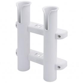 Sea-Dog Two Pole Side Mount Rod Storage Rack - White