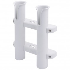 Sea-Dog Two Pole Side Mount Rod Storage Rack - White