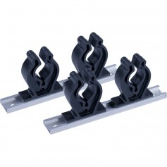 Sea-Dog Track Rod Holder - 7- Tracks - 4 Rod Clips