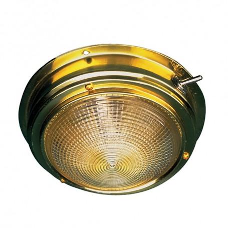 Sea-Dog Brass Dome Light - 4- Lens