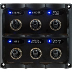 Sea-Dog Water Resistant Toggle Switch Panel