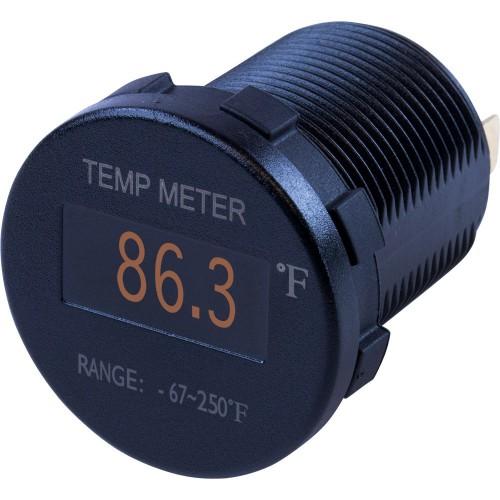 Sea-Dog Round OLED Temperature Meter Fahrenheit w-6 Lead