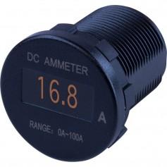 Sea-Dog Round OLED DC Amp Meter - 0 Amp-100 Amp
