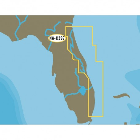 C-MAP NT- NA-C397 Jacksonville to Miami - C-Card Format
