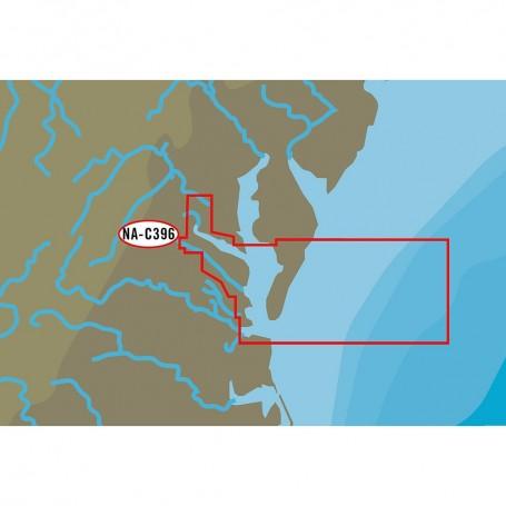 C-MAP NT- NA-C396 Chesapeake Bay from Pocomoke River to Norfolk - C-Card Format