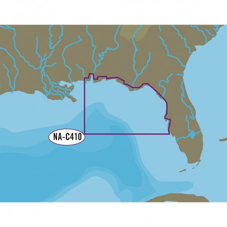 C-MAP NT- NA-C410 Sarasota to Mobile - C-Card Format