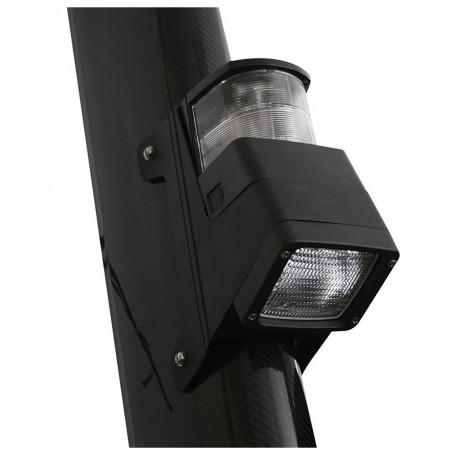 Hella Marine Halogen 8504 Series Masthead-Floodlight Lamp - Black