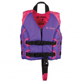 Onyx All Adventure Child Life Jacket - Child 30-50lbs - Purple-Pink