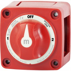Blue Sea 6008 M-Series Battery Switch 3 Position - Red