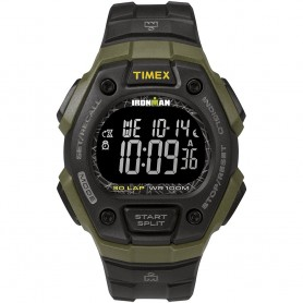 Timex IRONMAN Classic 30 41mm Full-Size Resin Strap Watch - Green-Black