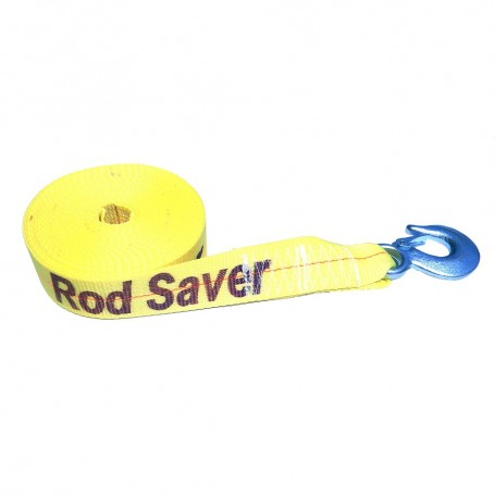 Rod Saver Heavy-Duty Winch Strap Replacement - Yellow - 2- x 30