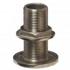 GROCO 3-4- NPS NPT Combo Stainless Steel Thru-Hull Fitting w-Nut