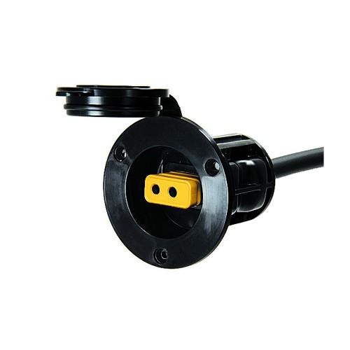 Cannon Flush Mount Power Port - Black