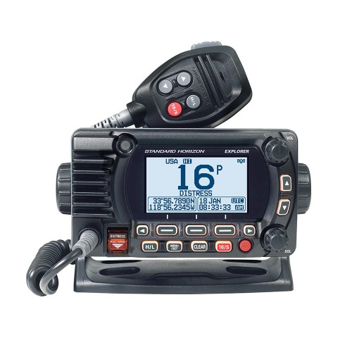 Standard Horizon 1850G Fixed Mount VHF w-GPS - Black