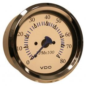 VDO Allentare White 8000RPM 3-3-8- -85mm- Outboard Tachometer - 12V