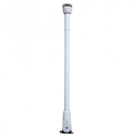 Aqua Signal Series 30 All-Round White Fold-Down Deck Mount LED Light w-19-5- Mounting Arm - White Housing