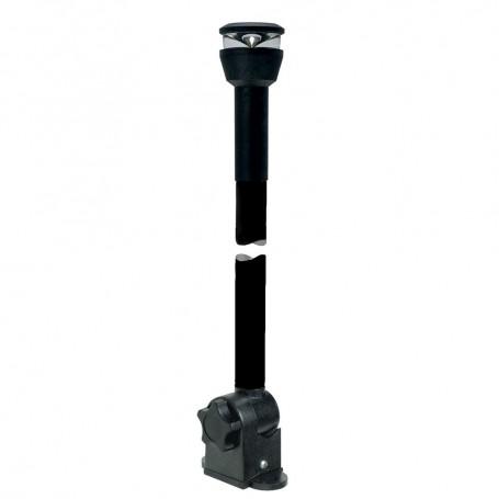 Aqua Signal Series 30 All-Round Black Fold-Down Deck Mount LED Light w-13-5- Mounting Arm - Black Housing