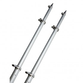 TACO 18 Deluxe Outrigger Poles w-Rollers - Silver-Silver