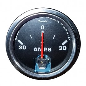 Faria 2- Amp Gauge - Chesapeake Black w-Stainless Steel Bezel