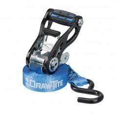 Draw-Tite Standard Duty Ratchet Tie-Down 1- Webbing w-Grip Handle Secure Hooks - 4-Pack