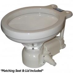 Raritan Sea Era Electric Toilet - Household Style - Integral Pump - Straight 90 Discharge - 12v