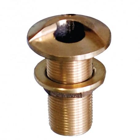 GROCO 1-1-2- Bronze High Speed Thru-Hull Fitting w-Nut