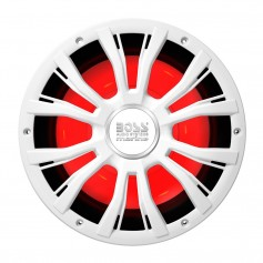 Boss Audio MRG10W 10- Marine 800W Subwoofer w-Multicolor Lighting - White