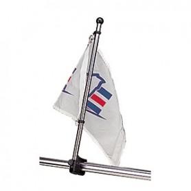 Sea-Dog Stainless Steel Rail Mount Flagpole - 17-