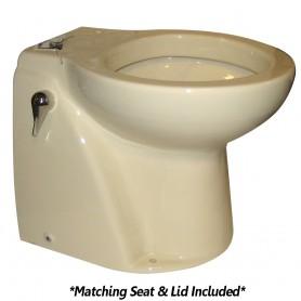 Raritan Atlantes Freedom w-Vortex-Vac - Household Style - Bone - Remote Intake Pump - Smart Toilet Control - 12v