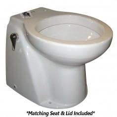 Raritan Atlantes Freedom w-Vortex-Vac - Household Style - White - Freshwater Solenoid - Smart Toilet Control - 12v