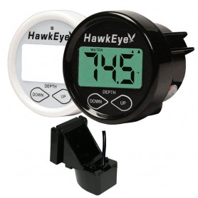 HawkEye DepthTrax 1BX In-Dash Digital Depth Temp Gauge - Transom Mount