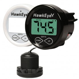 HawkEye DepthTrax 1BX In-Dash Digital Depth Temp Gauge - Thru-Hull