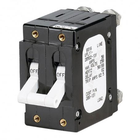 Paneltronics -C- Frame Magnetic Circuit Breaker - 60 Amp - Double Pole - White