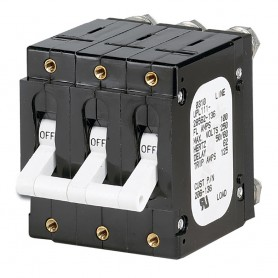 Paneltronics -C- Frame Magnetic Circuit Breaker - 100 Amp - Triple Pole - White