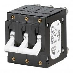Paneltronics -C- Frame Magnetic Circuit Breaker - 100 Amp - Triple Pole - White